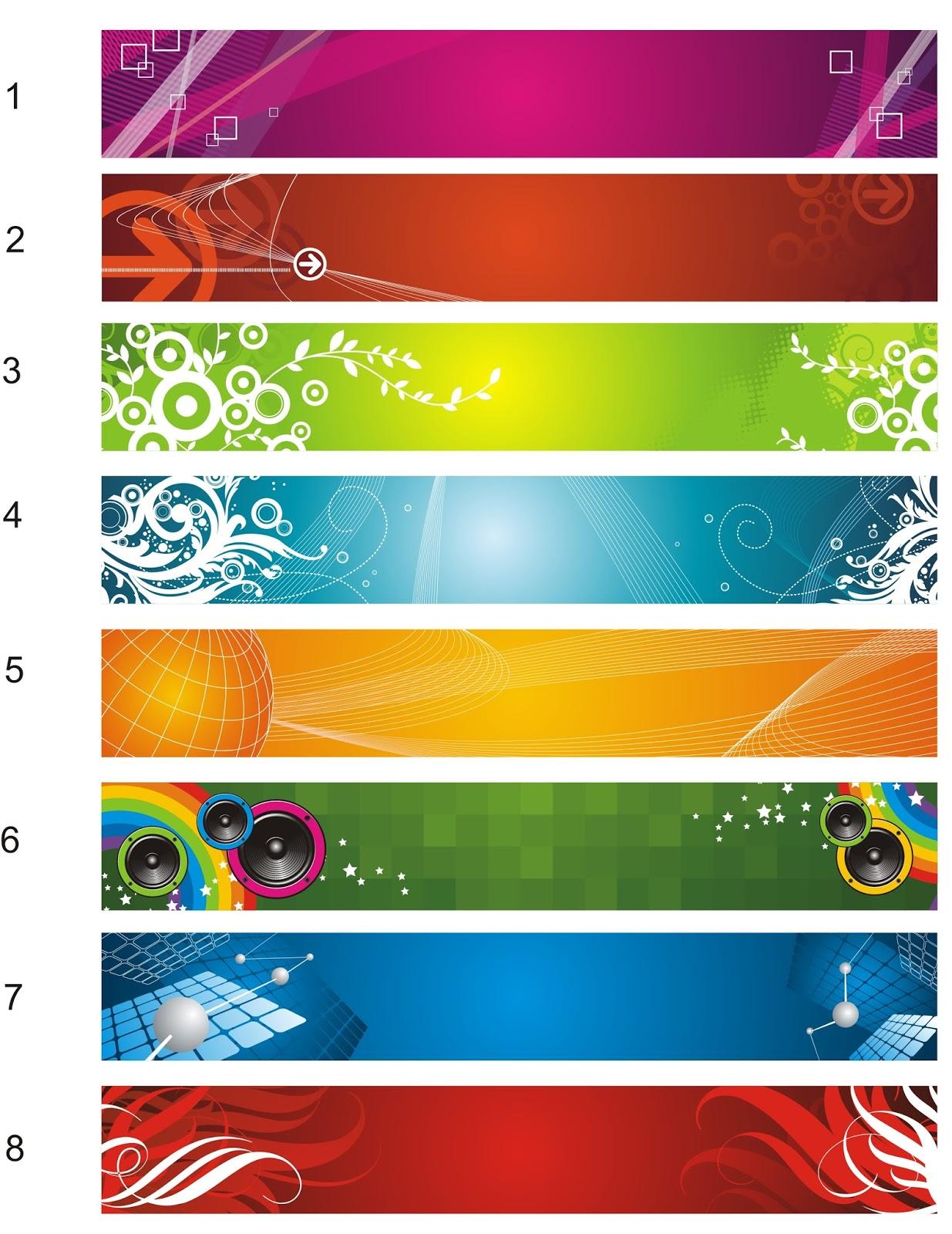 Design banner wisuda - 8 Template Banner Spanduk Vektor Format Cdr