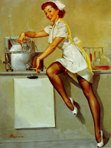 Retro pin up girls vintage pinup girls in the kitchen - Photo pin up ...