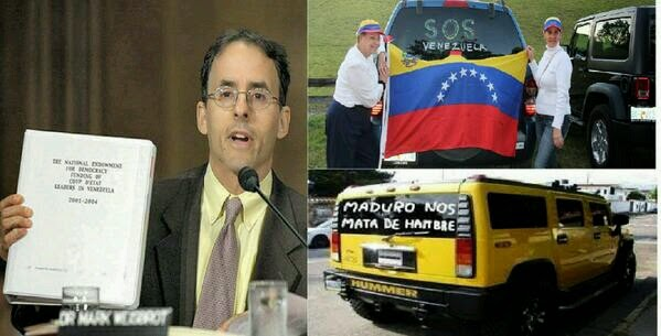 Los ricos protestan en Venezuela