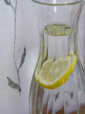 cold, fresh lemon water at Gather Shawnigan Lake