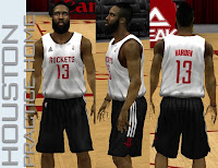 NBA 2K13 Houston Rockets Practice Home Jersey
