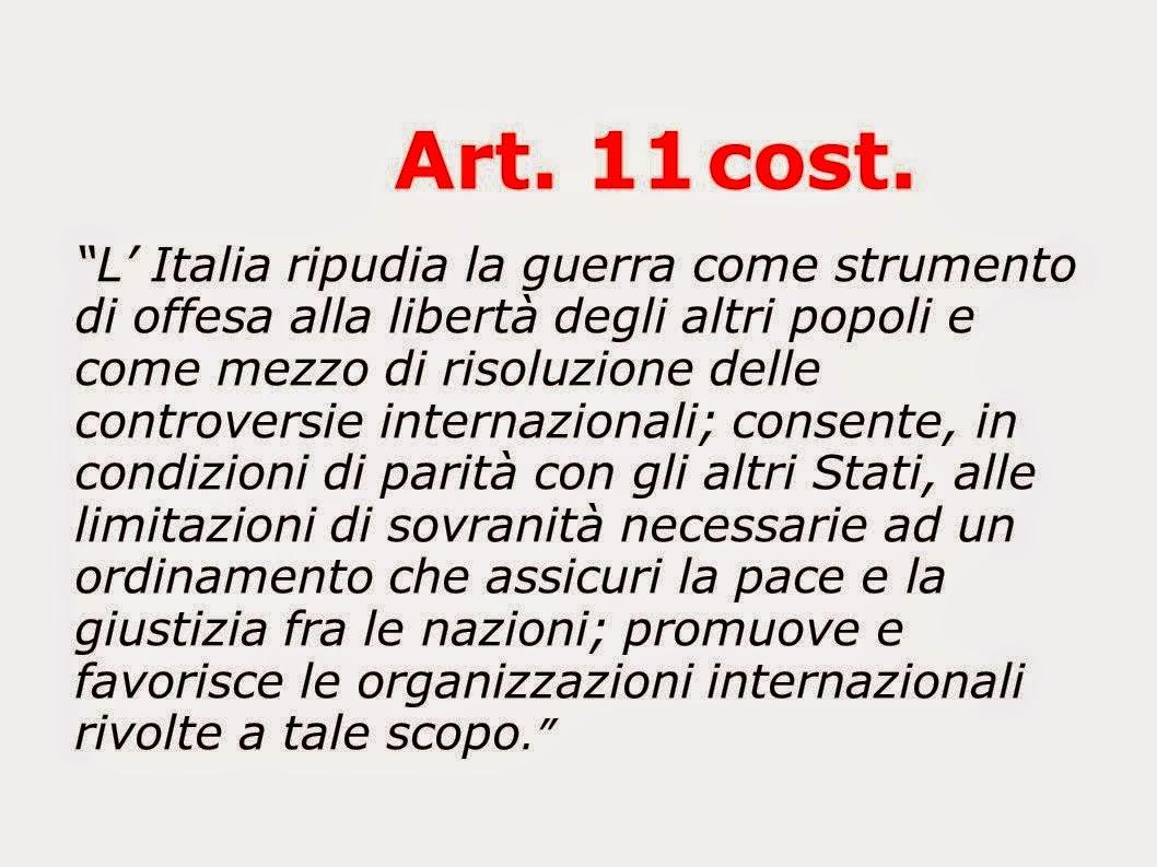 """""""L'Italia ripudia la guerra..."""