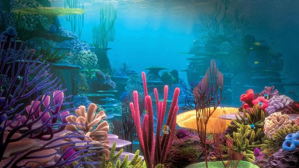 Mewarnai Gambar Pemandangan Bawah Laut | Mewarnai Gambar