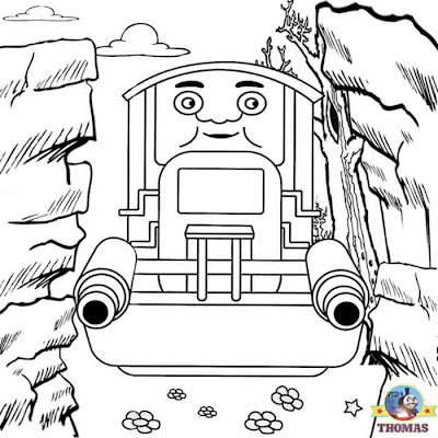 Pictures of Thomas the train and friends colouring pages for kids printable clipart quarry Thumper