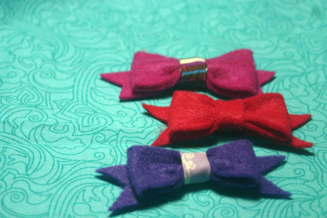 cute felt bows for kids