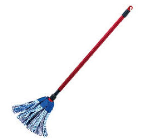 Mop : ... white head he turned the mop upside down and held it in front of him