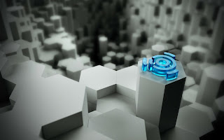 Unbuntu Blue Logo 3d HD Wallpaper