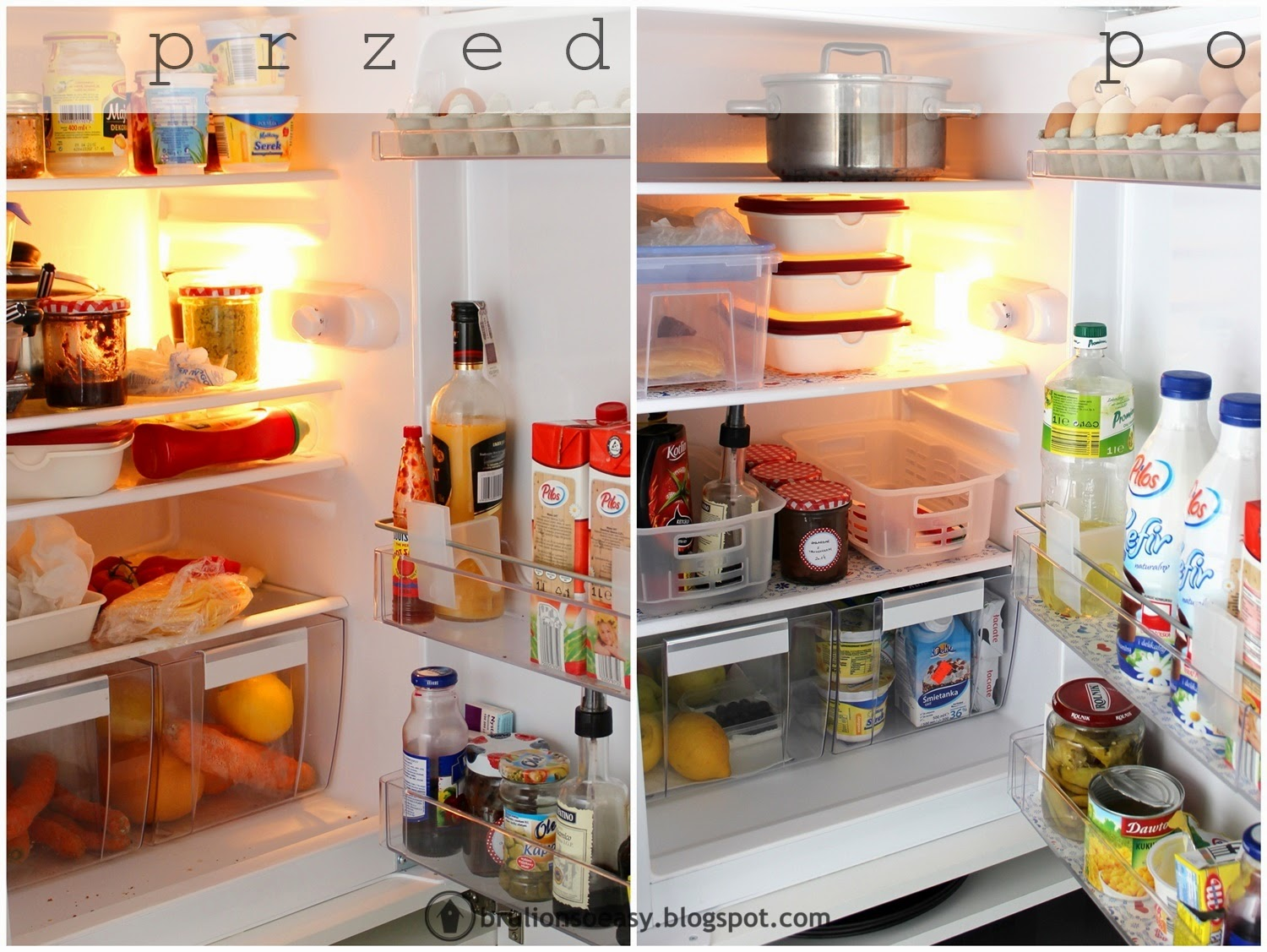 fridge organization before&after