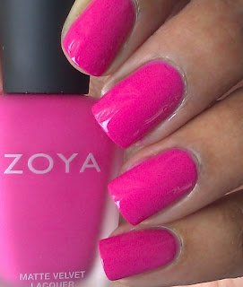 Zoya bright pink polish