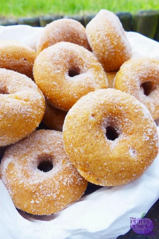 Baked Pumpkin Doughnuts » The Purple Pumpkin Blog