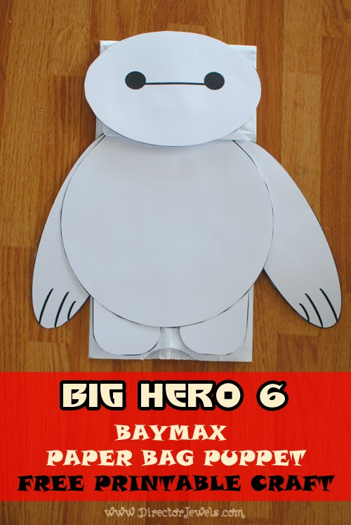 Disney Big Hero 6 Baymax Easy DIY Toddler Craft Paper Bag Puppet Tutorial