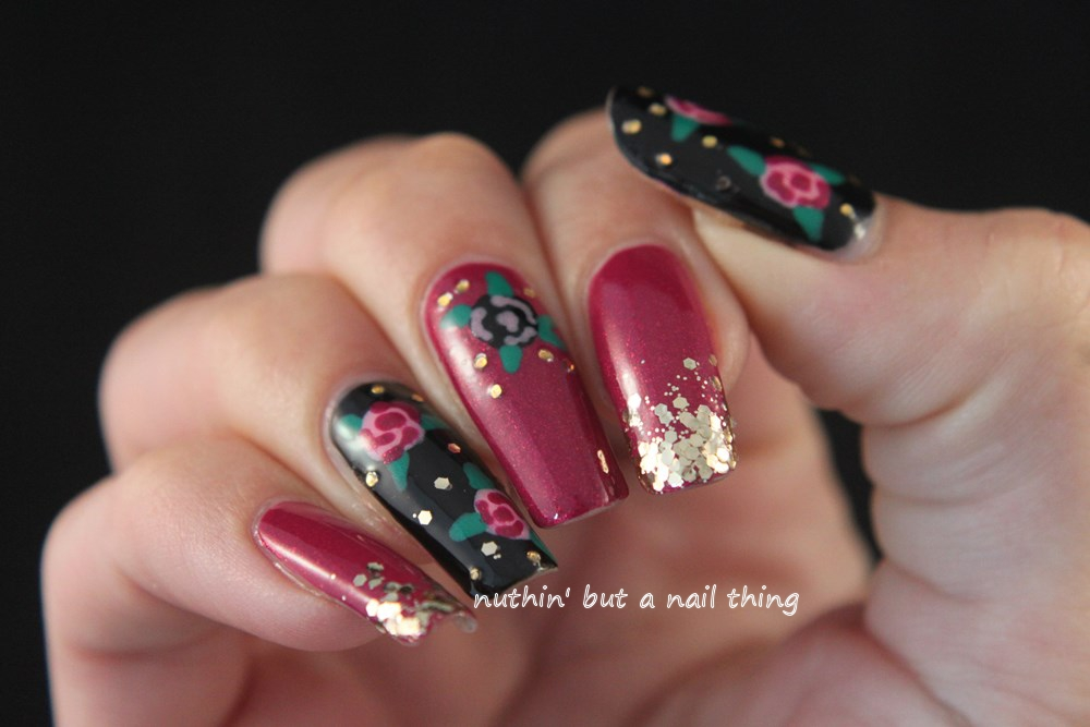 nuthin39; but a nail thing: Rose nail art