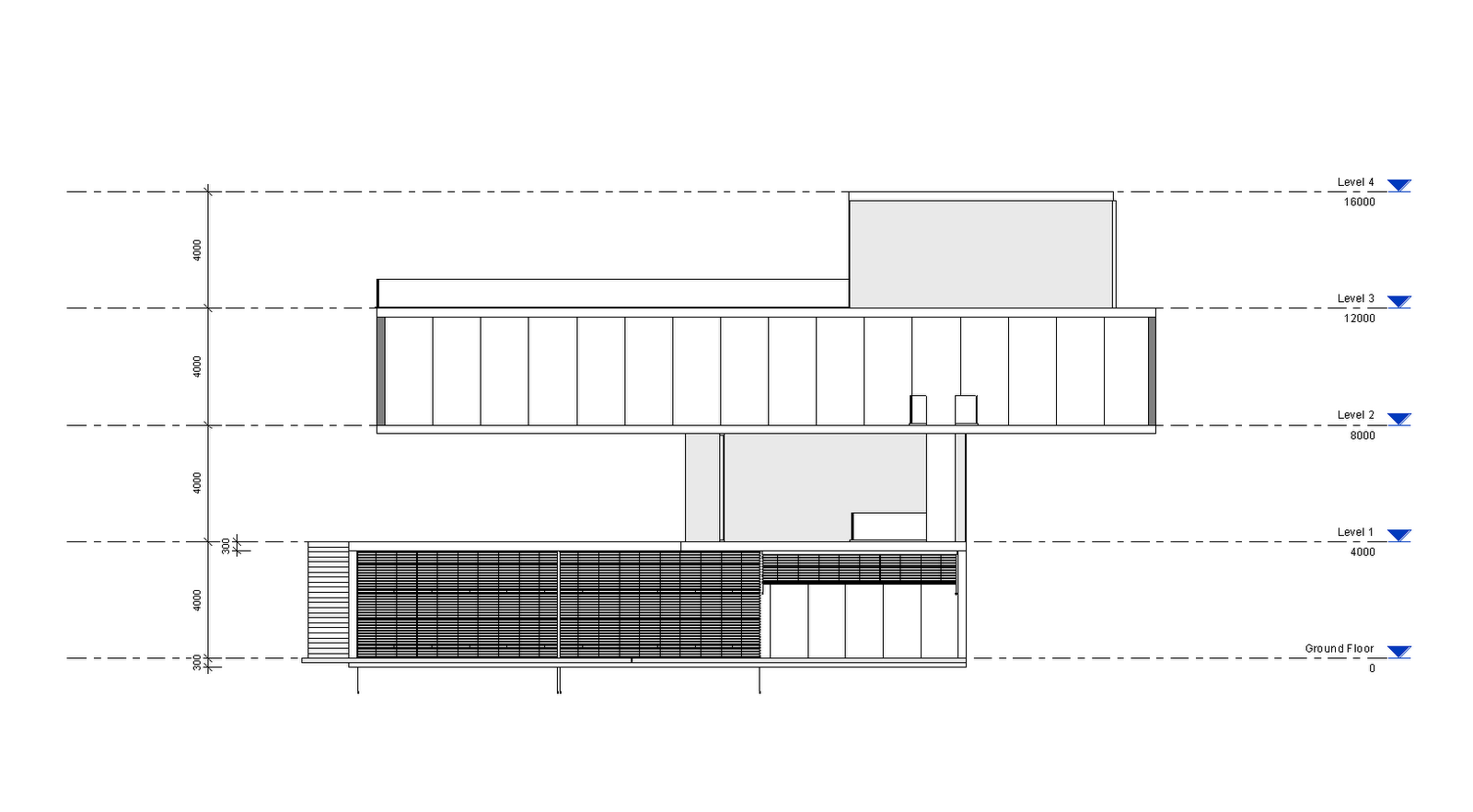 Third Floor Elevation : Salli hanninen arch week drawing documentation