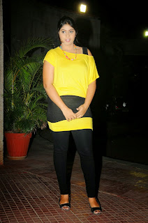New actress Haritha hot side boobs show inn tight yellow top and tight black legging