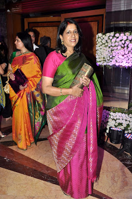 Kavita Krishnamurthy at Sunidhi Chauhan's wedding reception