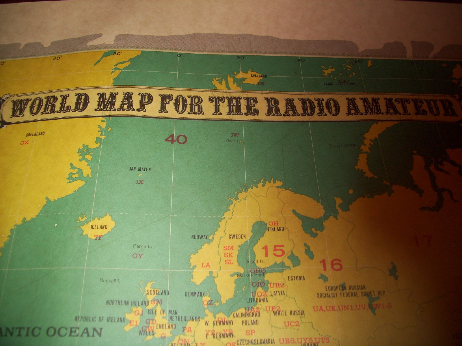 My favorite things world map for the radio amateur world map for the radio amateur gumiabroncs Choice Image