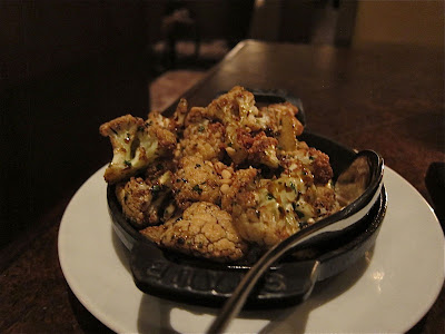 Roasted Cauliflower at Bourbon Steak