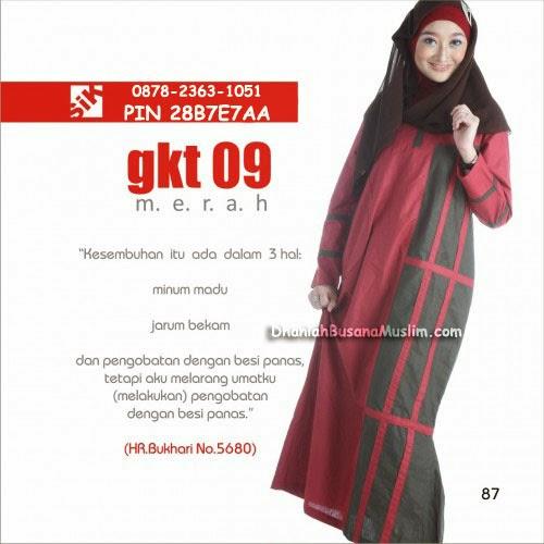 Gamis Sik Clothing GKT 09 Merah