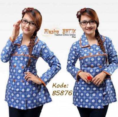10 Model Baju Batik Terbaru 2016  Baju Gamis Syari
