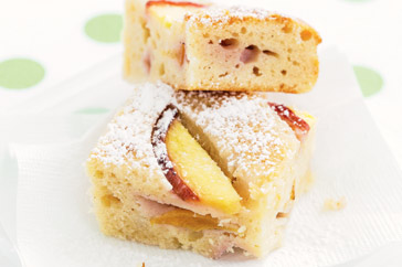Peach & Yoghurt Slice Recipe