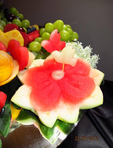 Fruit platter can say it july