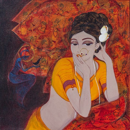"Pradarshak presents ""Expressions"" acrylic on canvas paintings by Sheetal Kamble."