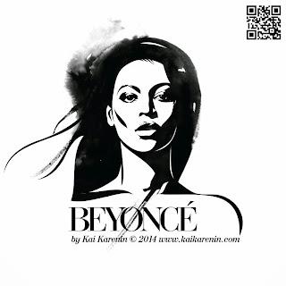 Beyonce by Kai Karenin, mixed media illustration