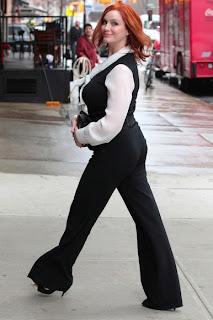 Christina Hendricks At The NYSE