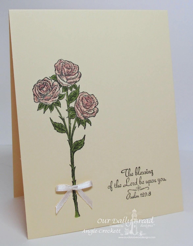ODBD Rose, Card Designer Angie Crockett