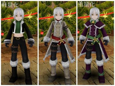 サンタ衣装 黒1、白1、紫1 男