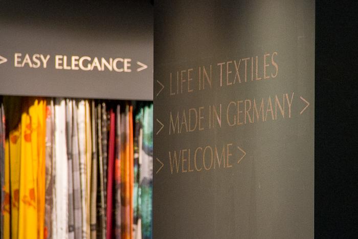 Neues von der Textilmesse. Neuheiten Stoffe, Kissen, Textilien