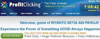 Halaman Depan ProfitClicking(dot)com