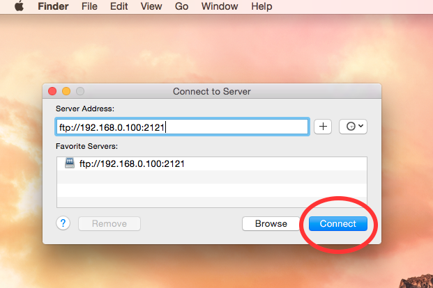how to connect to ftp server in mac without any third party software