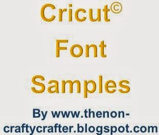 The non crafty crafter cricut font file has been updated for Cricut craft room fonts