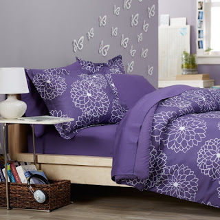 Purple bedroom ideas: Pinzon bed in bag