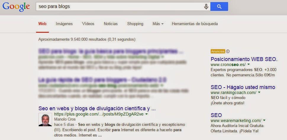 Posicionamiento de un blog gracias a Google+
