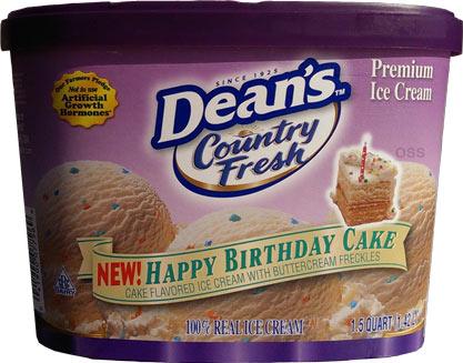 Deans Happy Birthday Cake Ice Cream