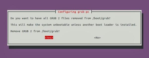 menghapus grub ubuntu