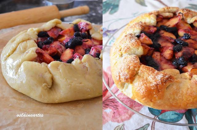 Crostata de Pessego e Amora