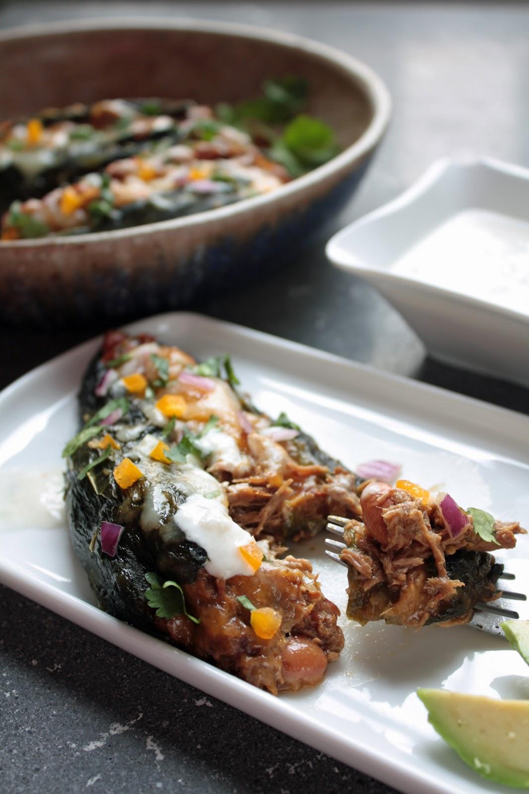 ... Poblanos Stuffed w/ Pulled Pork Chili Verde   I Breathe I'm Hungry