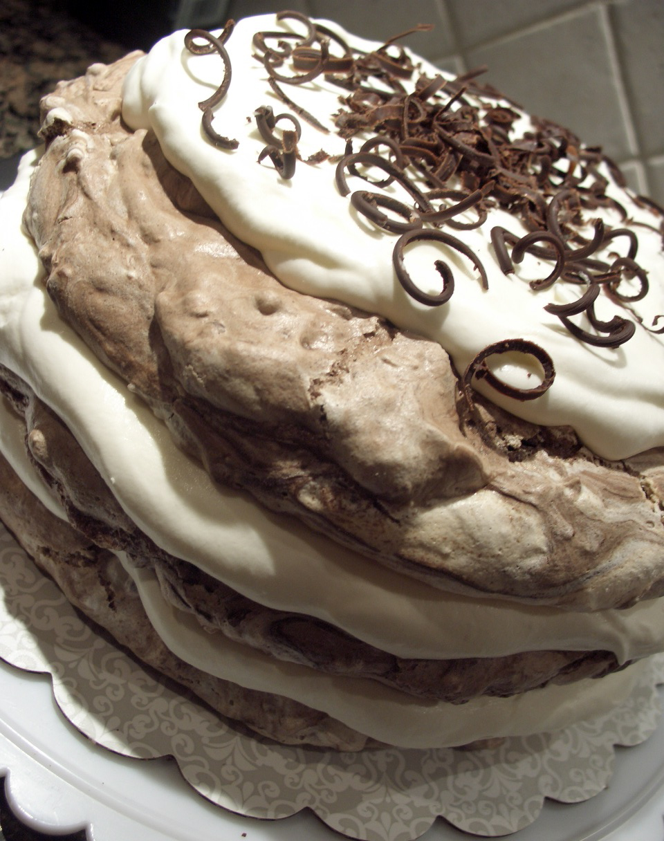 Design Bake Share: Chocolate Hazelnut Meringue Cake