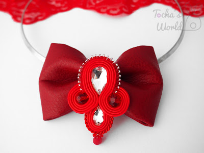 Audrey Hepburn, bow, bow tie, choker, necklace, vegan, soutache, Swarovski, beaded, jewellery, handcrafted, To-Bow,