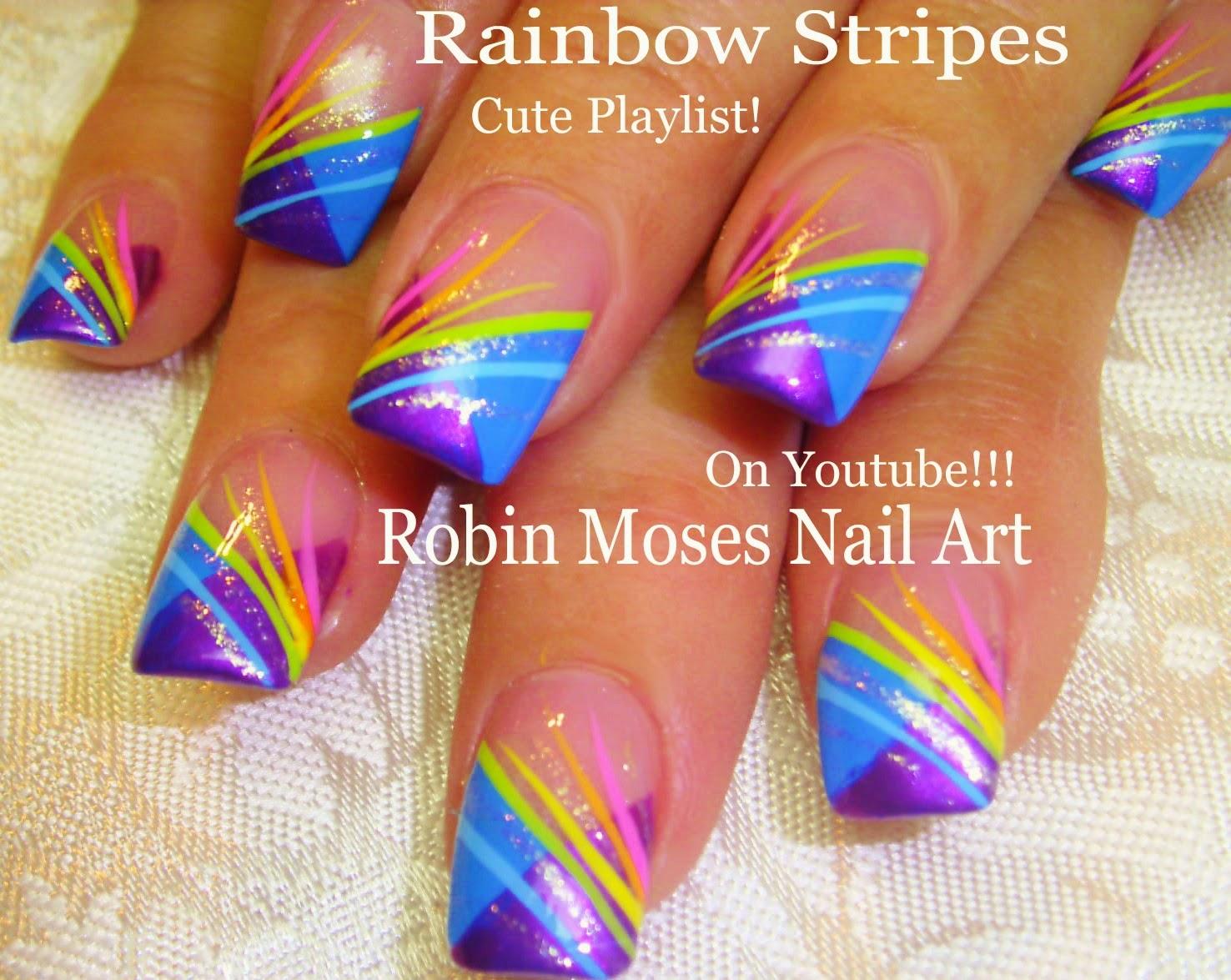 """robin moses nail art: """"stripe nails"""" """"stripe nail art"""" """"blue nails"""