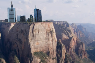 Buildings on a Cliff