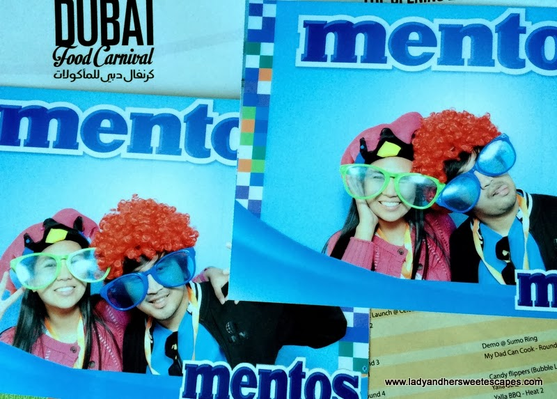 Mentos Photo Booth at the Dubai Food Carnival