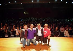 Com Hélio Barbosa, Fábio Lins e Victor Camejo