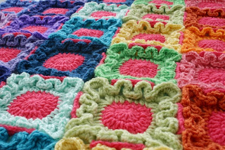 Doodle Dots Blanket Crochet Pattern by Susan Carlson of Felted Button