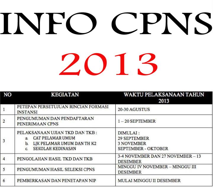 Jadwal Tahapan Pelaksanaan CPNS 2013 Badan Kepagawaian
