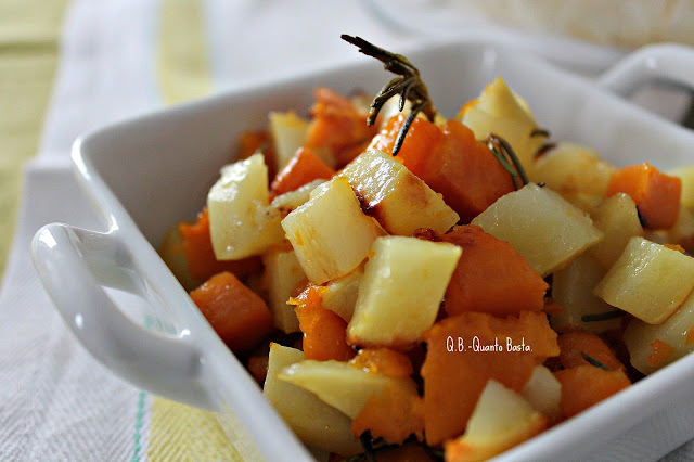 Q.B.- Quanto Basta: cubetti di zucca e patate al profumo di rosmarino