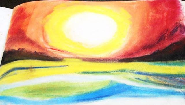 Pastel art sunset